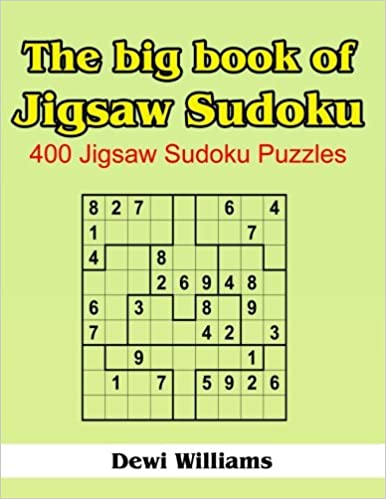 picture relating to Printable Jigsaw Sudoku called The Substantial Guide of Jigsaw Sudoku: 400 Jigsaw Sudoku Puzzles