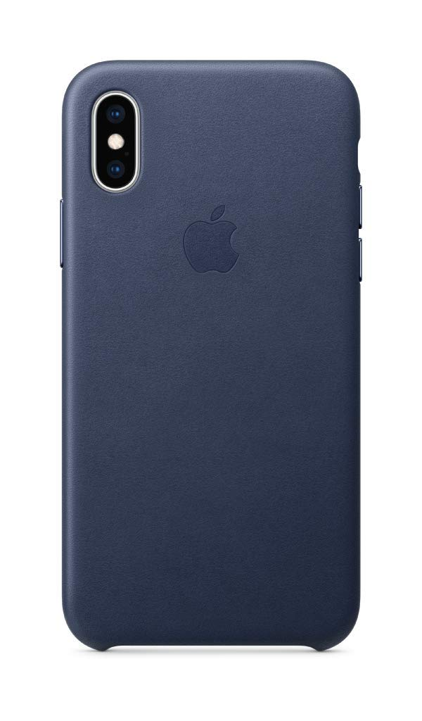 Apple Leather Case (for iPhone Xs) - Midnight Blue