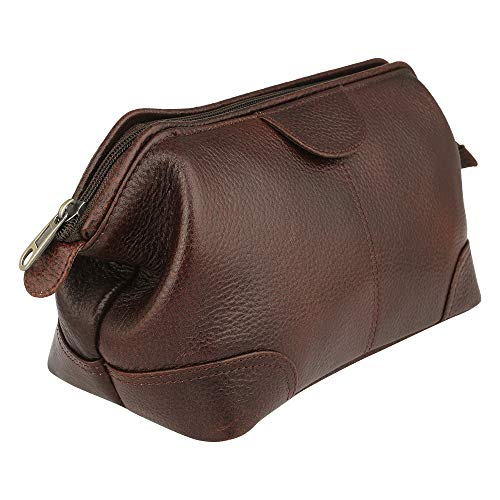 Brown Leather toiletry bag | leather toiletry travel bag | Genuine leather toiletry bag for men and women | For Travel purpose