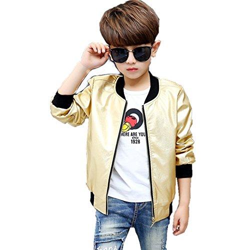 CosSky Boys Bomber Jacket 10-12 (Gold, 8)]()