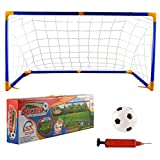 Ball Goal, FenglinTech 24.8Inch Children Football Net Door Sports Toys Set with Soccer Inflator for Outdoor