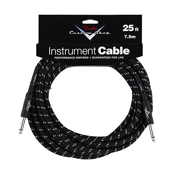 Fender 099-0820-039 Custom Shop 7.5 m Inst. Cable Black Tweed