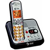 AT&T EL52100 DECT 6.0 Cordless Phone with Answering System and Caller ID/Call Waiting, 1 Handset, Silver/Black