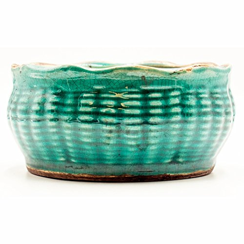- Bourbon Maple Sugar French Farmhouse Bowl Swan Creek Candle (Color: Turquoise)