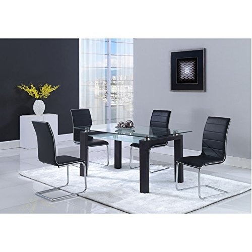 (Global Furniture Dining Table, Black)