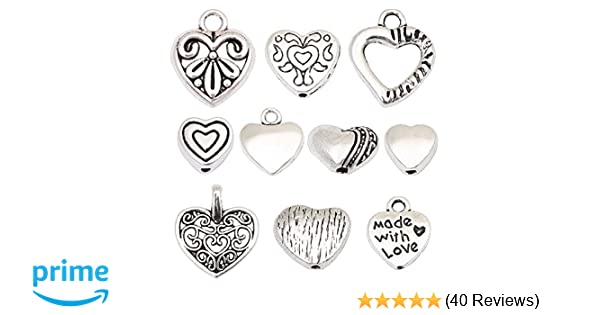 Love And Be Loved Charm Tibetan Antique Silver 20mm BULK 4 Packs x 5 Charms