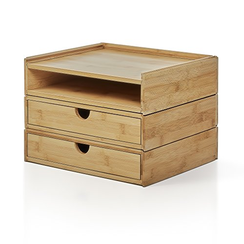 Prosumer's Choice 3-Tier Modular Bamboo Desk Organizer with Letter-Size (Modular Office Desks)