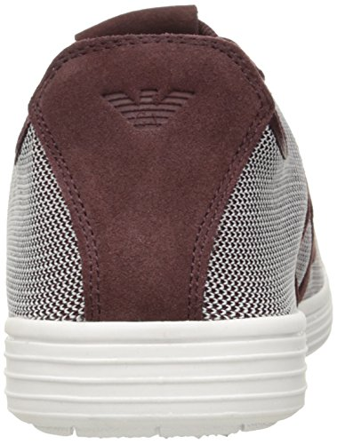 Armani Jeans Heren Textiel Mode Sneaker Donker Bordeaux