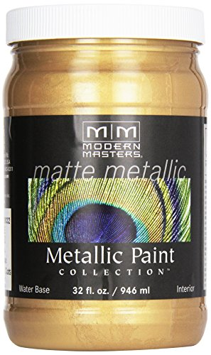 (Modern Masters MM200 Matte Metallic Paint, Pale Gold, Quart)