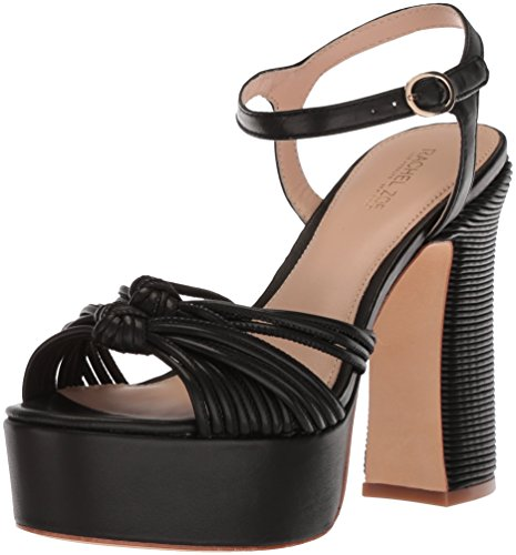 Rachel Zoe Women's Avery Platform Heeled Sandal, Black, 7.5 M US
