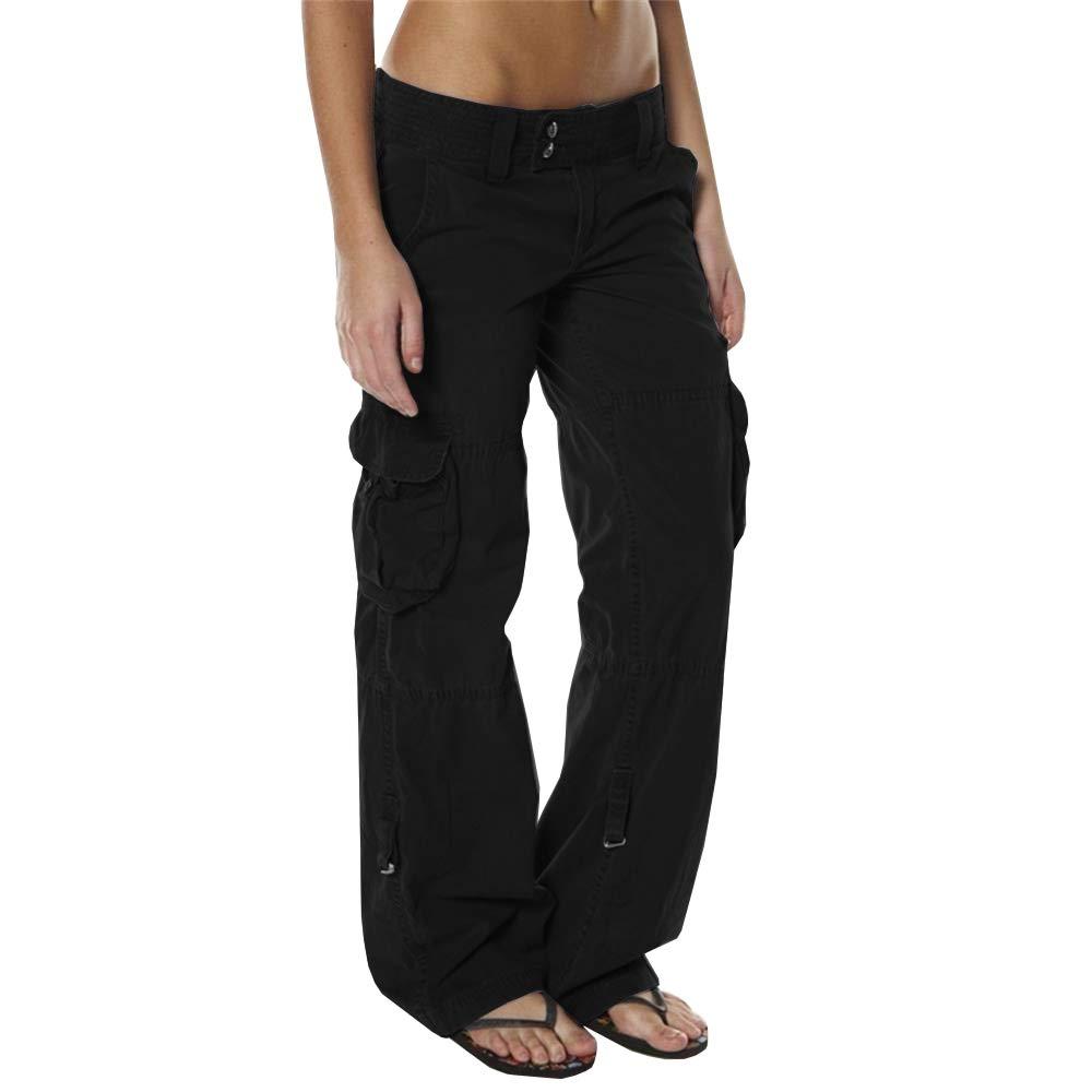 Romancan Pantalones de Carga de Las se/ñoras Pantalones Casuales al Aire Libre para los Pantalones Que acampan del Alpinismo