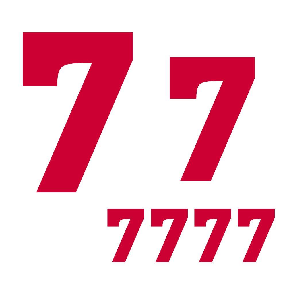 RECHERE Juego de 6 Camisetas de F/útbol para Ni/ños de Transferencia de Calor de Vinilo con N/úmero 0