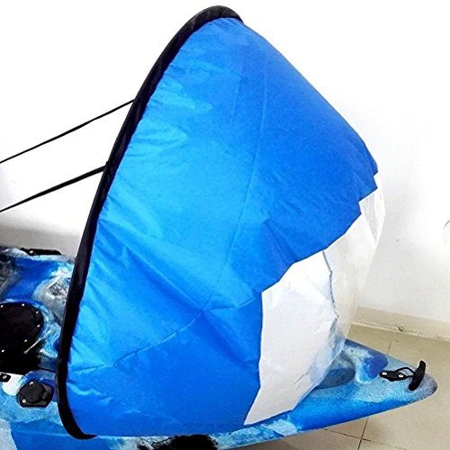 Flashsolar Blue 42'' Kayak Downwind Wind Sail, Foldable Popup Board Paddle Downwind Sail Kit for Kayaks, Canoes, Inflatable boats, Paddle Board by Flashsolar (Image #8)