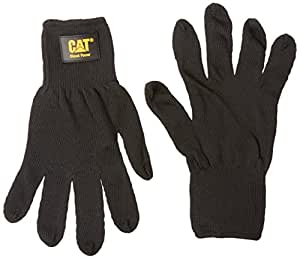 Cat Gloves Rainwear Boss Mfg CAT017407L Large Black Heavy Gauge String Knit Gloves