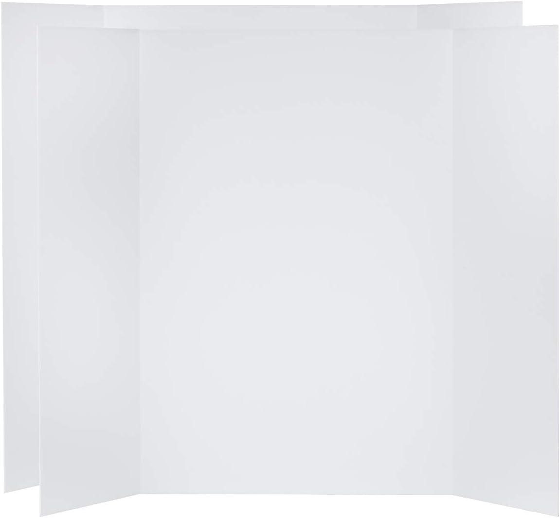 4-Pack, White, Folded Size: 24x36 inches V-FLAT WORLD 48x36-inch Tri-Fold Foam Board