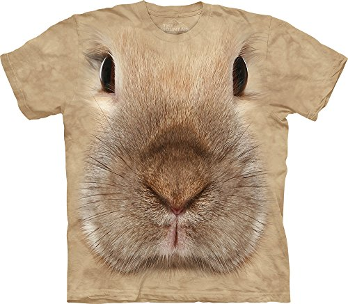 Tan Brown Tee Shirt (The Mountain Kids Bunny Face T-Shirt, Medium, Tan)