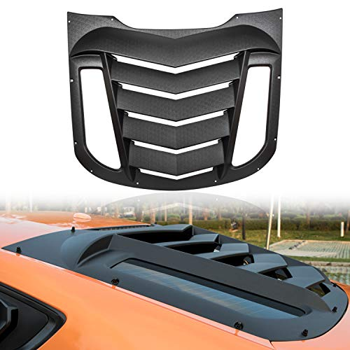 Camoo for Ford Mustang 2015-2019 Rear Window Louver Sports Look Sun Shade Windshield Cover Protector ABS ()