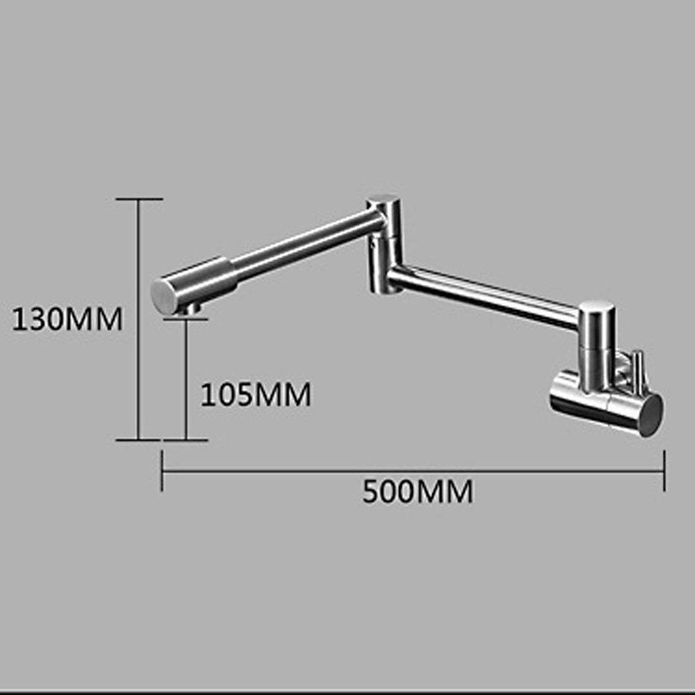 swing spout brass kitchen wall mount single handle pot