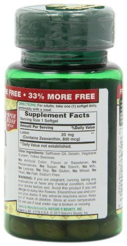 Nature's Bounty Lutein 20mg, 30 Softgels (Pack of 10) by Nature's Bounty (Image #4)