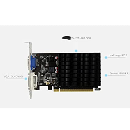 Tarjeta gráfica, Yeston GT710-1G D3 Graphics Ares VC ...