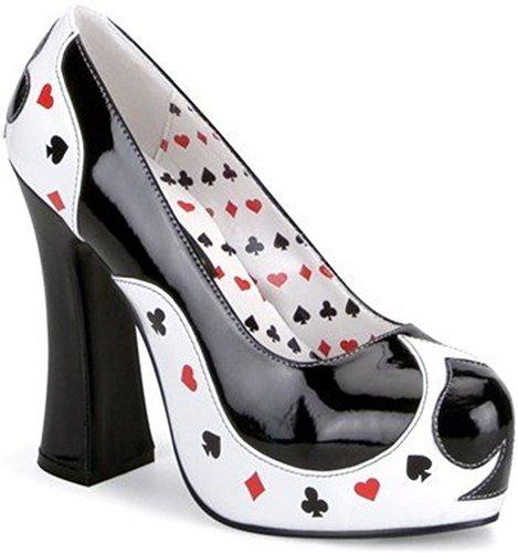Funtasma POKER-21 - zapatos carnaval traje Halloween, US-Damen:EU-41/42 / US-11 / UK-8