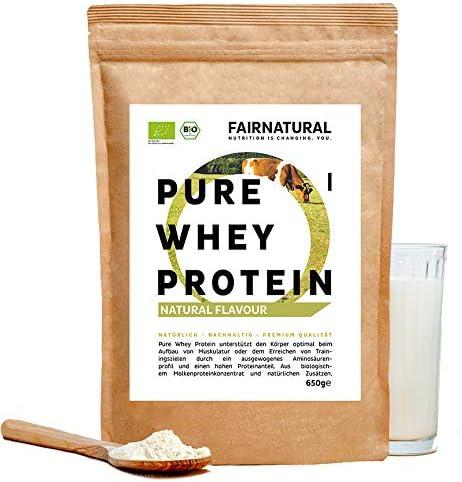 Proteína Whey en polvo de Suero Neutra/Natural ORGANICA sin soja - Batidos de proteína