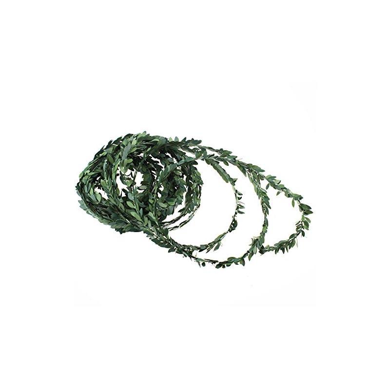 silk flower arrangements ljy 32.8 yards artificial ivy garland foliage green leaves fake vine for wedding party ceremony diy headbands