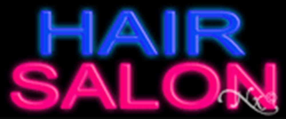 24x10x3 inches Hair Salon NEON Advertising Window Sign