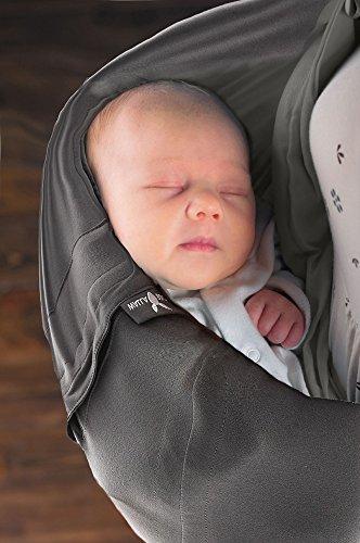 Wallaboo Connection - Bandolera portabebé de algodón, 3 en 1 honda del bebé, para bebés de 3.5 kg a 15 kg, transpirable y usable los cuatro estaciones 1
