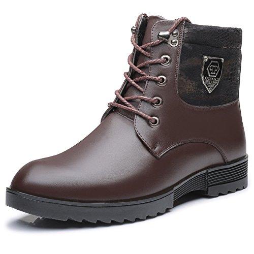 Glattleder Classic Boot Premium Boot Combat Brown