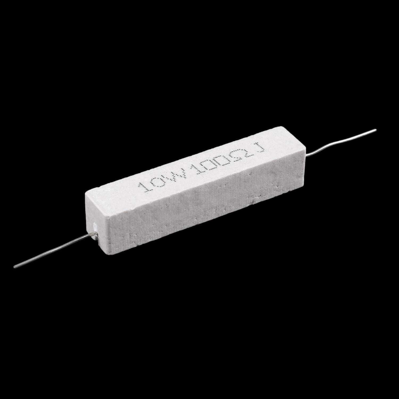YeBetter 5 Pcs 10W Watt 100 ohms 5/% de resistances bobinees de ciment Axial