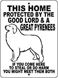 GREAT PYRENEES DOG SIGN 9