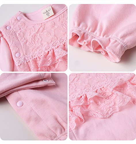 Baby Cotton 2 Acvip Sleeper pezzi Girl Lace Cute Rose Hat 8WwwqSdOTn