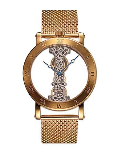 Burgmeister Men's BM331-209 Analog Display Mechanical Hand Wind Gold Watch