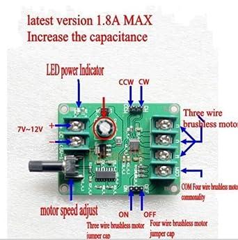 YalinGE 5V -12V DC Brushless Motor Driver Board Controller