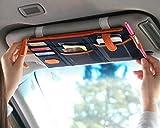 TRUE LINE Automotive TrueLine Multi-purpose Auto Car Sun Visor Organizer Card Storage Holder Phone holder (Navy Blue)