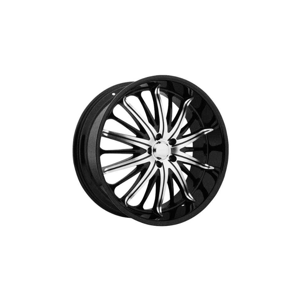 Akuza Belle 20 Black Machined Wheel / Rim 5x120 with a 35mm Offset and a 74.1 Hub Bore. Partnumber 761285547+35GBMT