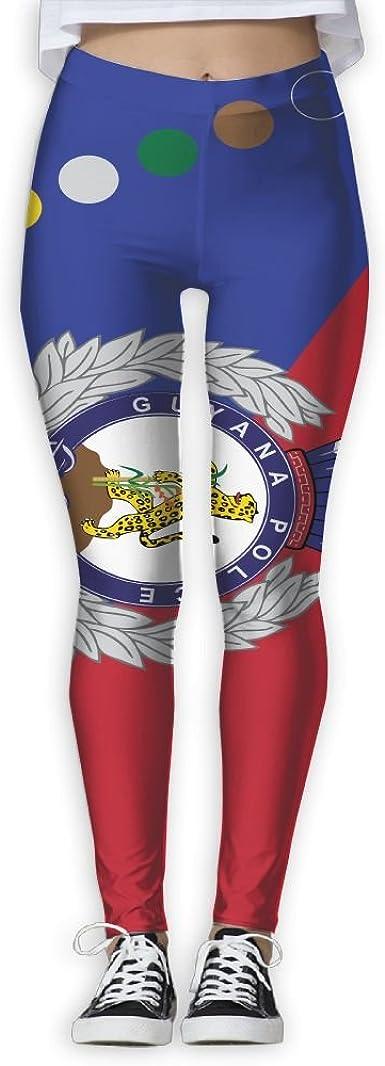 Womens Flag of Guyana Yoga Shorts Workout Running Capri Leggings Pants Hot Shorts