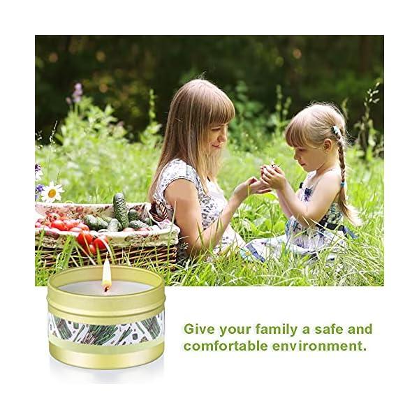 Citronella Kerze Outdoor mit Sojawachs Duftkerzen 6 Stück Zitronella Kerzen Set für Zimmer Garten Terrasse Balkon…