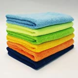 #8: MaxLit- MicroFiber Cleaning Cloth 6 PC Color Pack, 16 x 16 in. (6- Color Pack, B/P/O/Y/LG/LB)