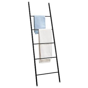 mDesign Toallero escalera – Práctico colgador de toallas con 5 barras para secar todo tipo de