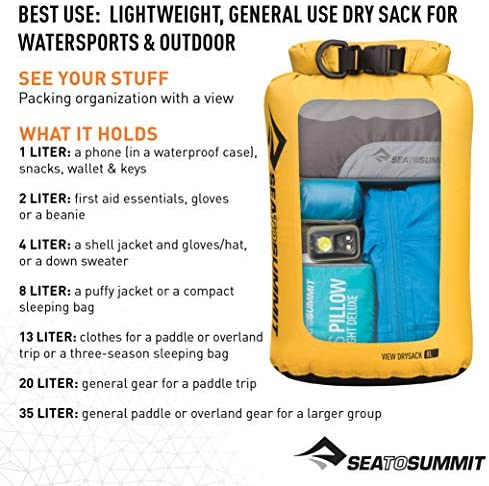 8 Liter Sea to Summit Lightweight Drysack Packsack
