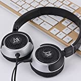Lightweight Nets Rotatable 3.5mm Stereo Over-ear Headphones Portable Stretch Headsets Earphones Leather Earpad with Build-in Microphone and Control Button for All Smartphones,laptops,tablets,pc,mp3/mp4,psp,ipod