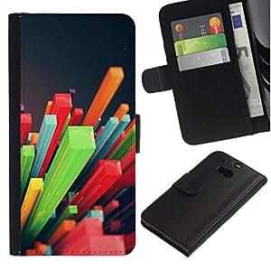 All Phone Most Case / Oferta Especial Cáscara Funda de cuero Monedero Cubierta de proteccion Caso / Wallet Case for HTC One M8 // Colorful Pattern