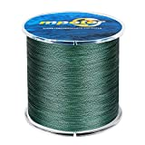 mpeter Armor Braided Fishing Line, Abrasion Resistant Braided Lines, High Sensitivity and Zero Stretch, 4 Strands to 8 Strands with Smaller Diameter,green,327-Yard/10LB