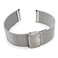 Blenheim London® Classic Mesh 20mm Stainless Steel Watch Silver Strap