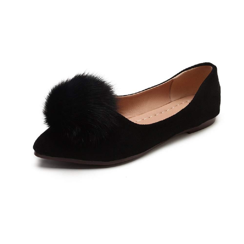 Qiusa Chaussures Plates légères en Faux Taille 39) suède à Bout Noir Pointu et Ballet pour Femmes (coloré : Noir, Taille : EU 39) Noir e3243cb - shopssong.space