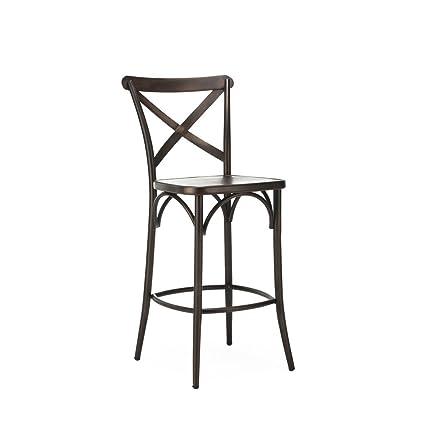 Fantastic Amazon Com Design Lab Mn Ls 9906 Rmt Cross Back Steel High Andrewgaddart Wooden Chair Designs For Living Room Andrewgaddartcom