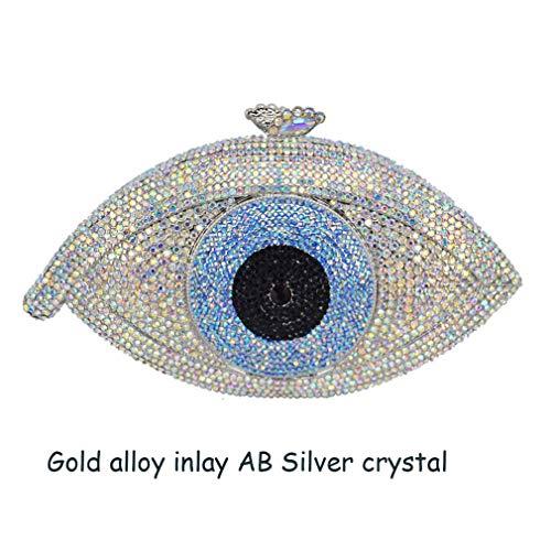 Bag AB Silver Purse Eye Clutch Bag Women Party Bag Day Crystal Clutch ULKpiaoliang Evil Silver silver Bag Gold Pochette Femme Evening q0xW4H7