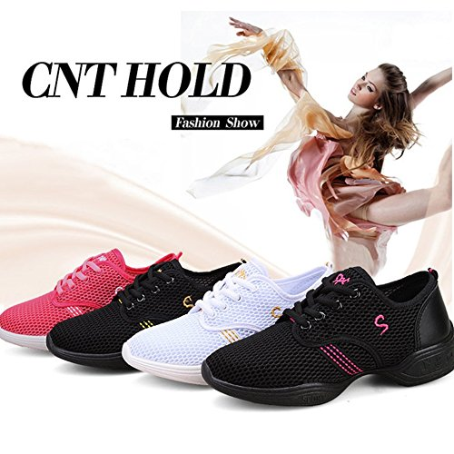 pratica Tamlltide morbido da Dance ballo femmina scarpe mesh Jazz sneakers scarpe donna ww48Hfq